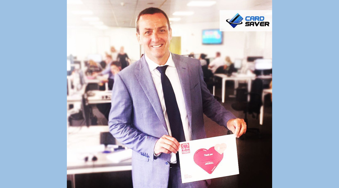 Card Saver raises money for BHF - Andy Pilley Official Website